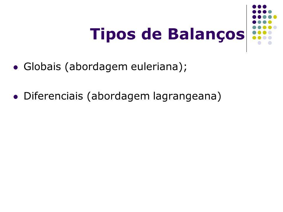 Tipos de Balanços Globais (abordagem euleriana);