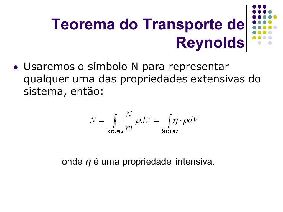 Teorema do Transporte de Reynolds