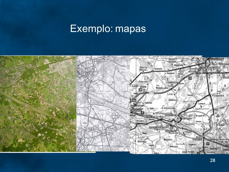 Exemplo: mapas Areal pictures, Topographical maps and roadmaps