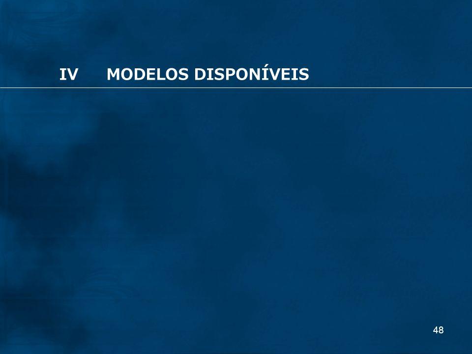 IV MODELOS DISPONÍVEIS
