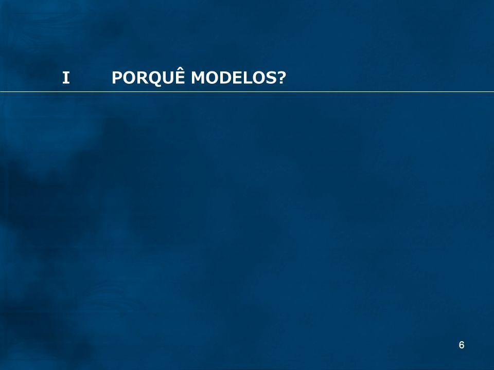 I PORQUÊ MODELOS