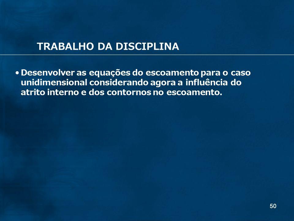 TRABALHO DA DISCIPLINA