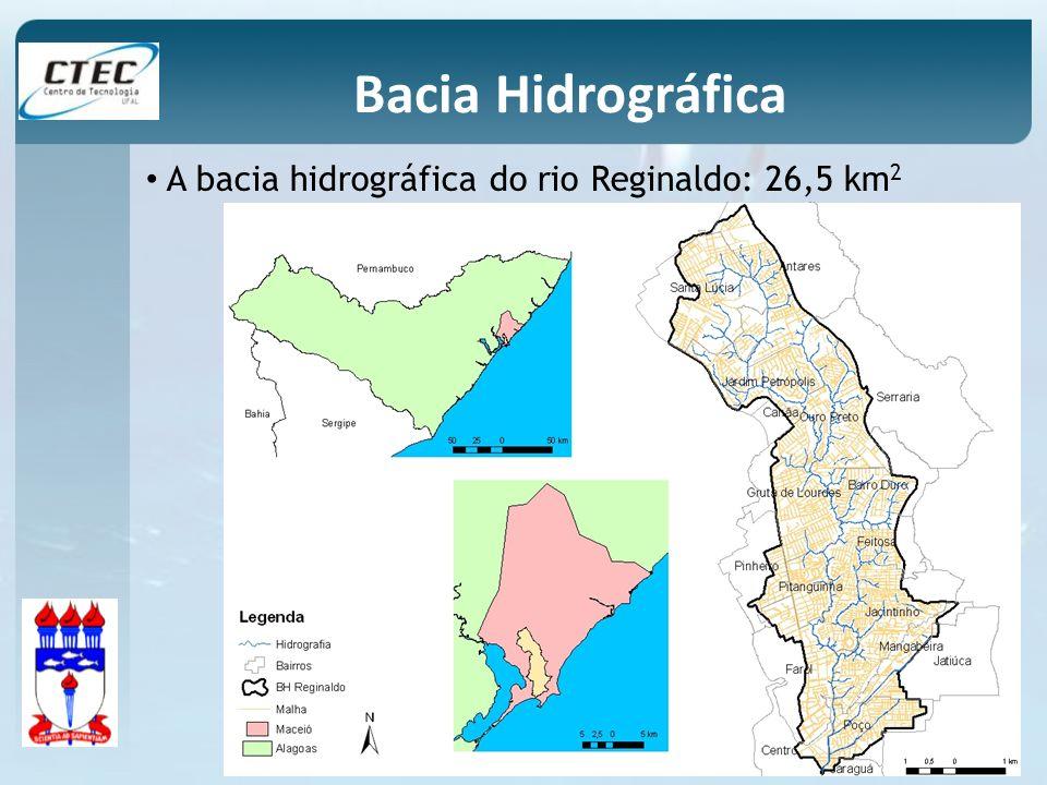 Bacia Hidrográfica A bacia hidrográfica do rio Reginaldo: 26,5 km2