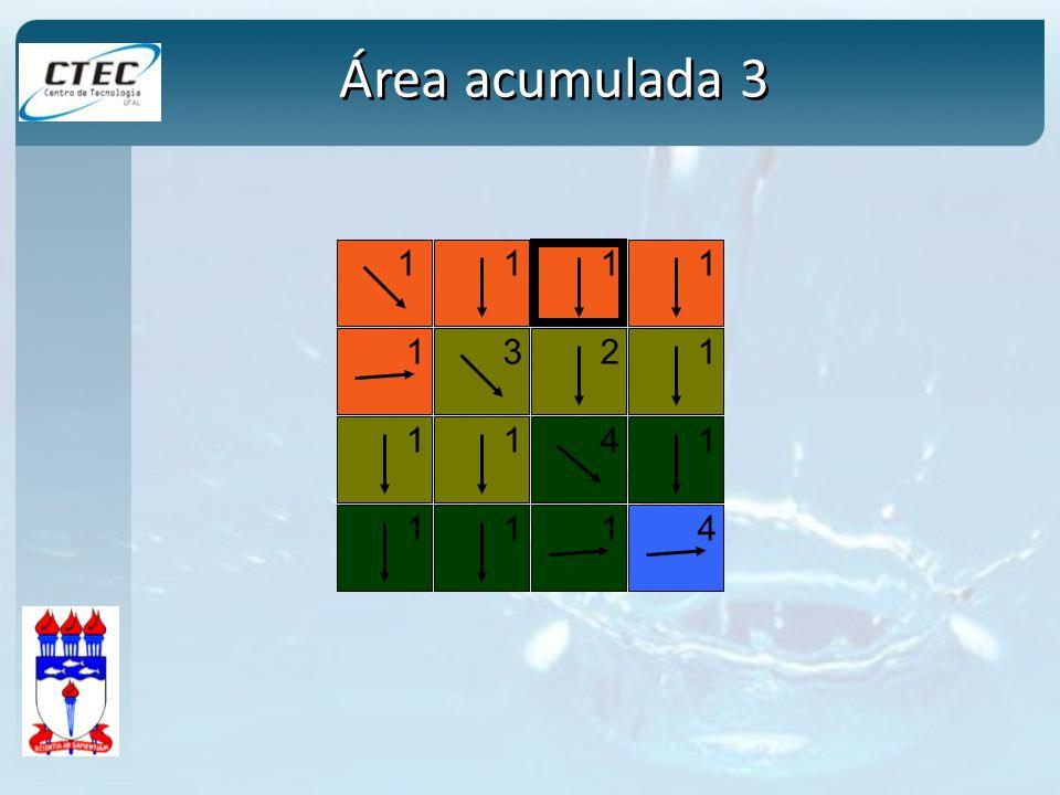 Área acumulada 3 1 2 3 4