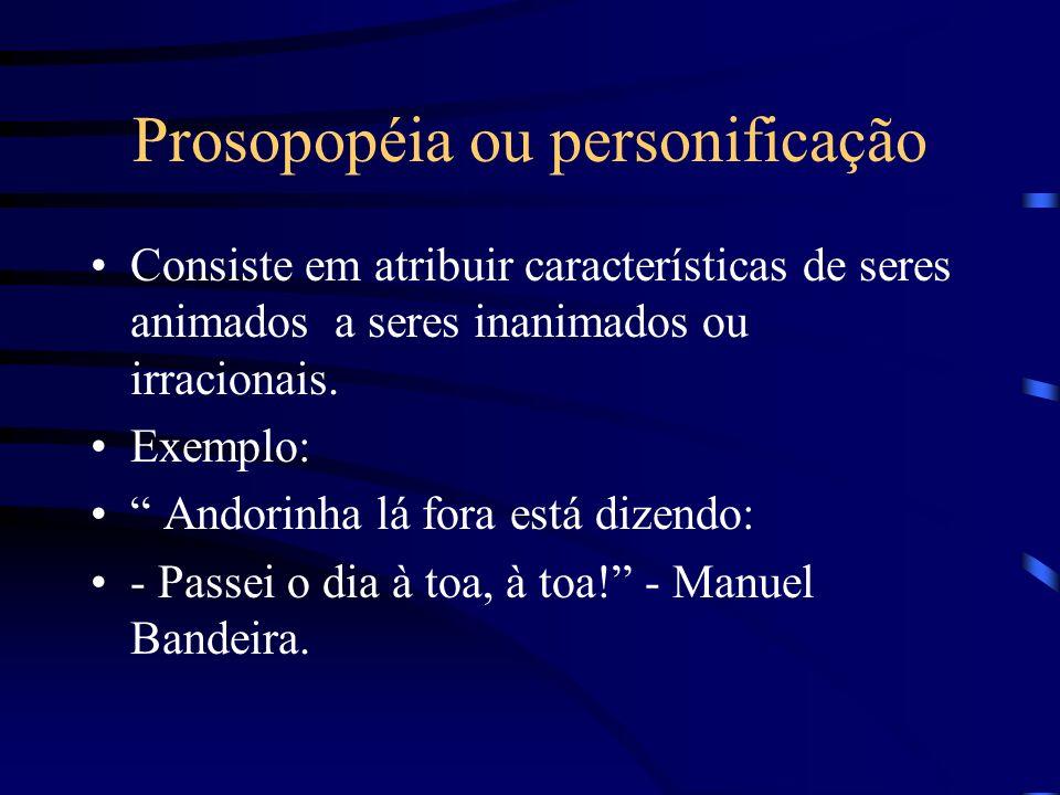 Prosopopéia ou personificação