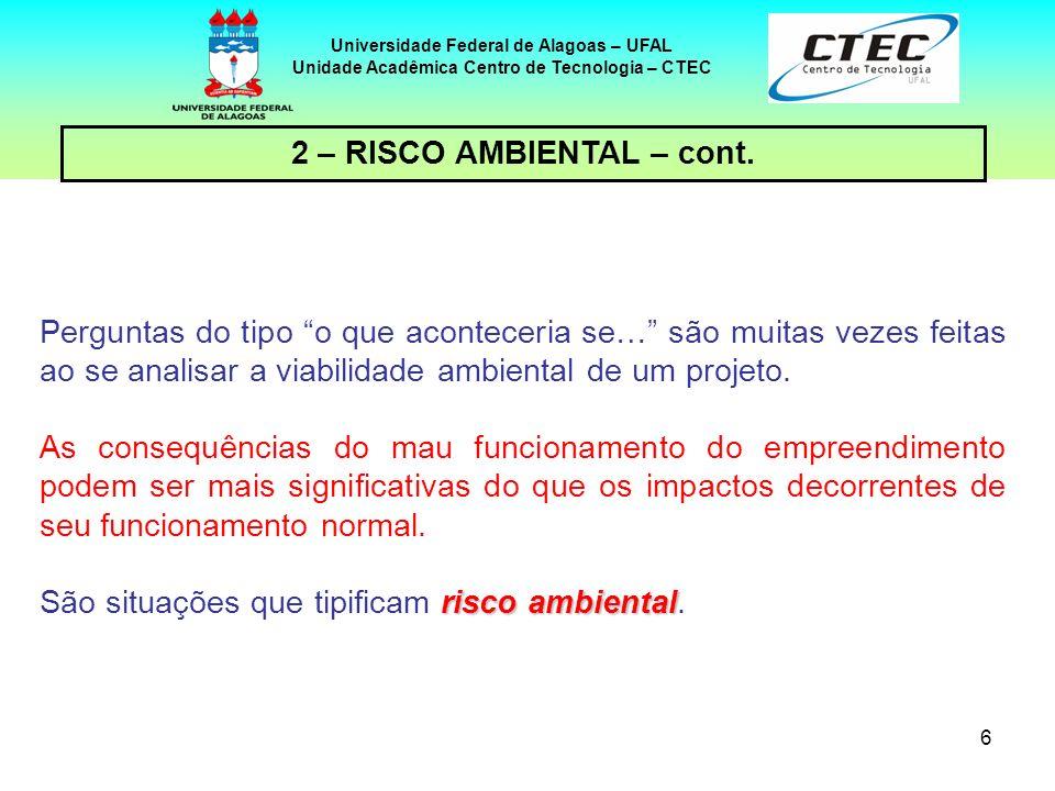 2 – RISCO AMBIENTAL – cont.