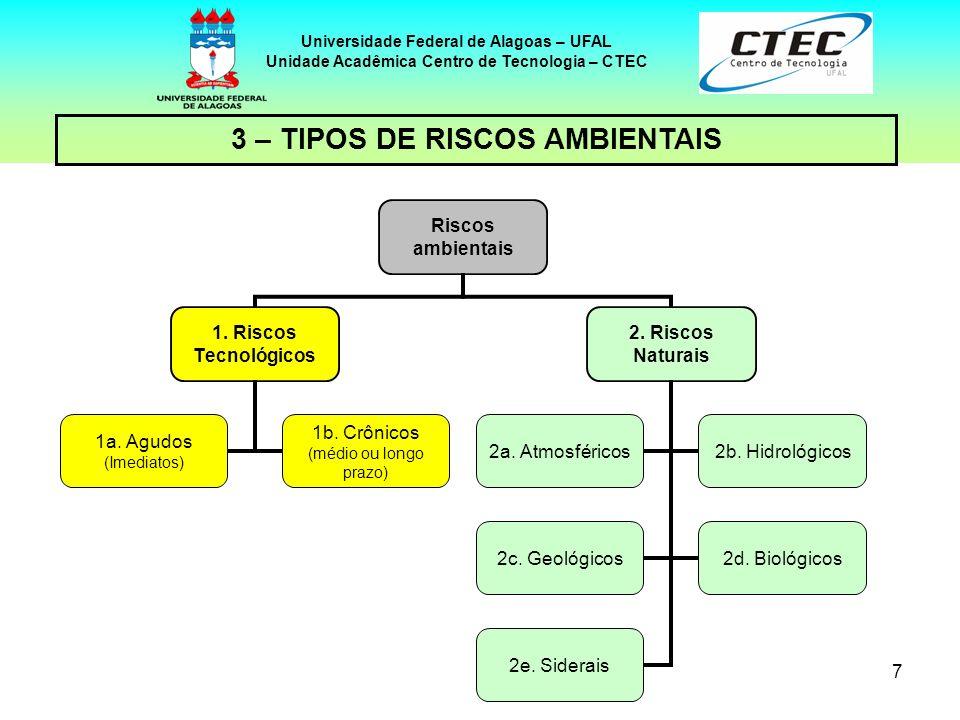 3 – TIPOS DE RISCOS AMBIENTAIS