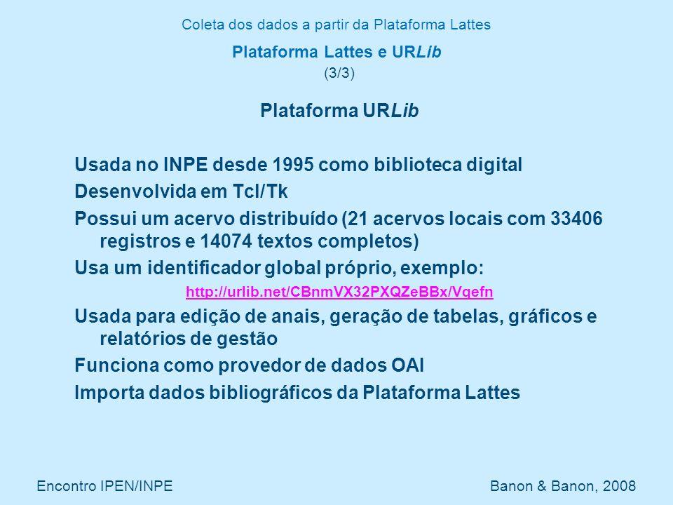 Plataforma Lattes e URLib (3/3)
