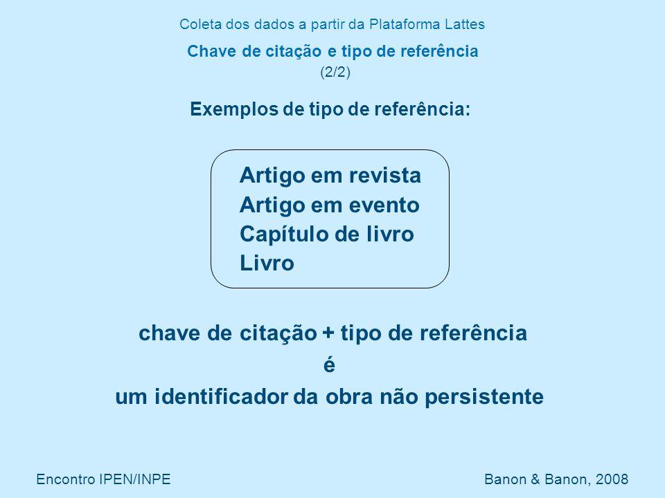 Chave de citação e tipo de referência (2/2)