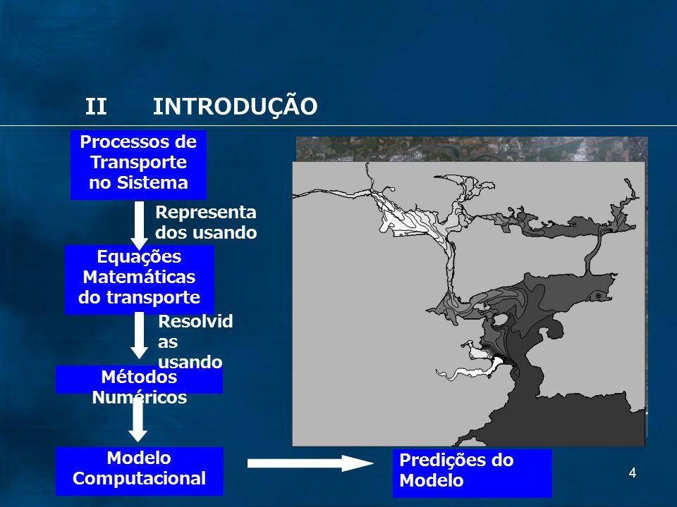Processos de Transporte no Sistema Equações Matemáticas do transporte