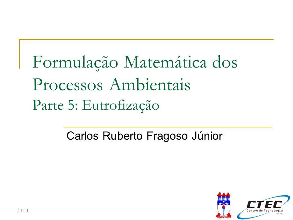 Formulação Matemática dos Processos Ambientais Parte 5: Eutrofização