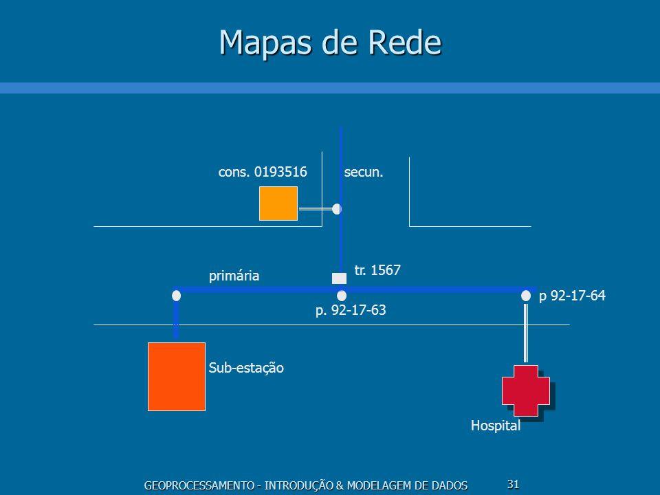 Mapas de Rede p. 92-17-63 tr. 1567 primária Sub-estação p 92-17-64