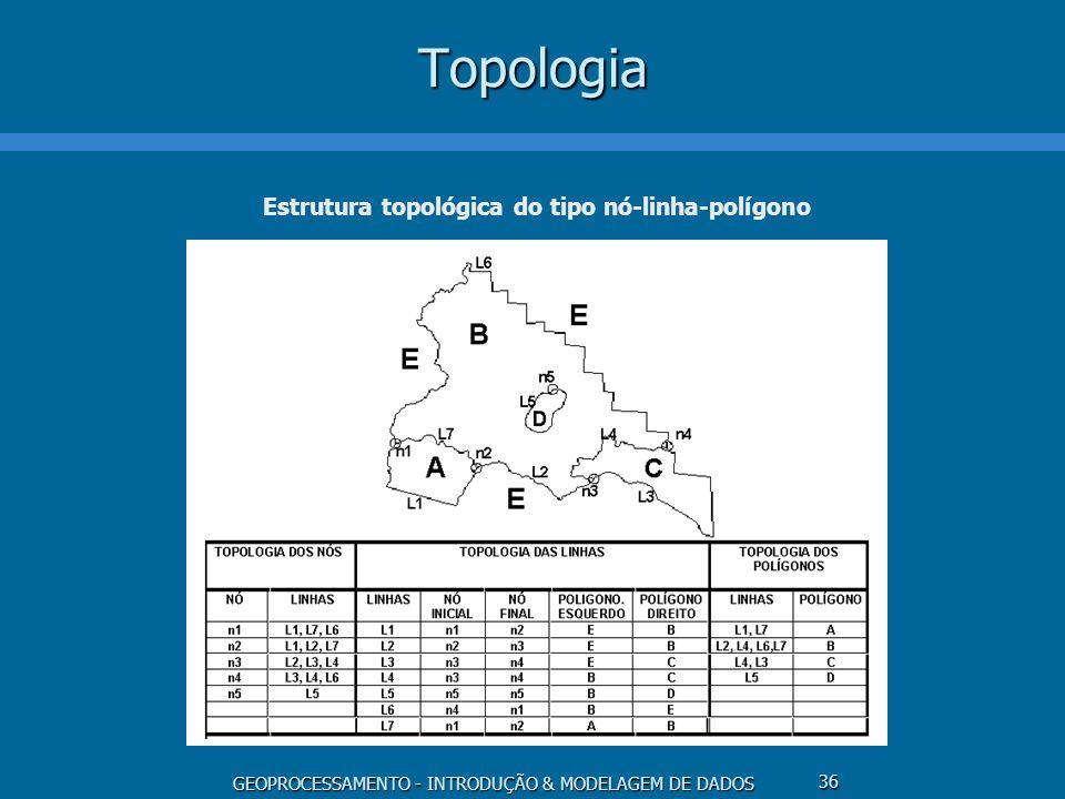 Estrutura topológica do tipo nó-linha-polígono