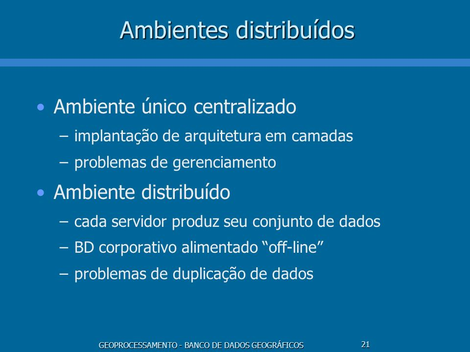 Ambientes distribuídos