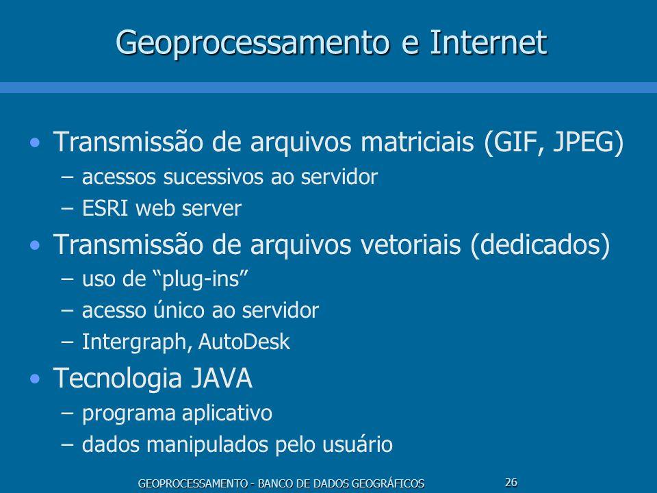 Geoprocessamento e Internet