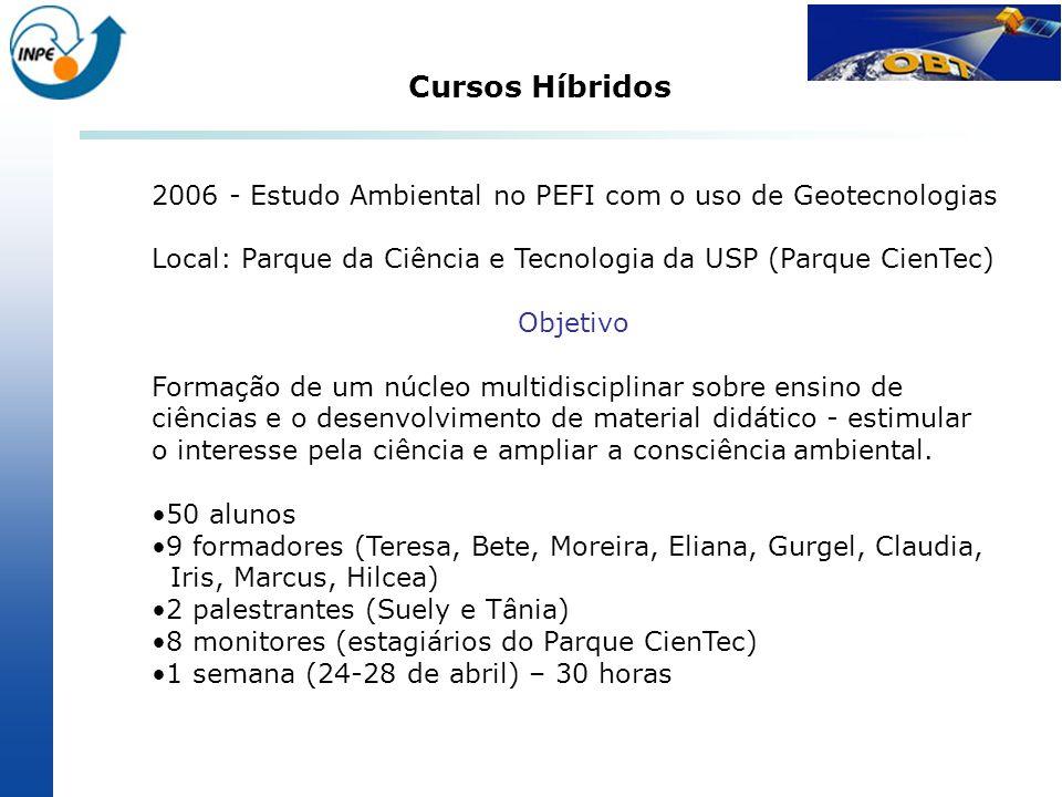 Cursos Híbridos 2006 - Estudo Ambiental no PEFI com o uso de Geotecnologias. Local: Parque da Ciência e Tecnologia da USP (Parque CienTec)
