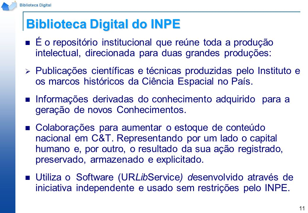 Biblioteca Digital do INPE