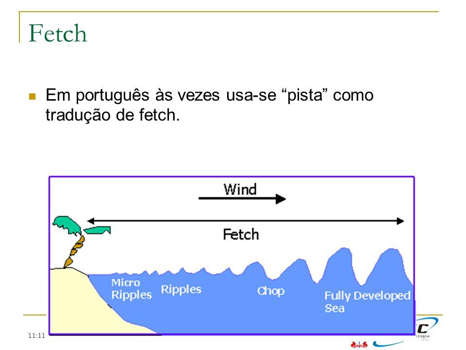 Fetch Em português às vezes usa-se pista como tradução de fetch.