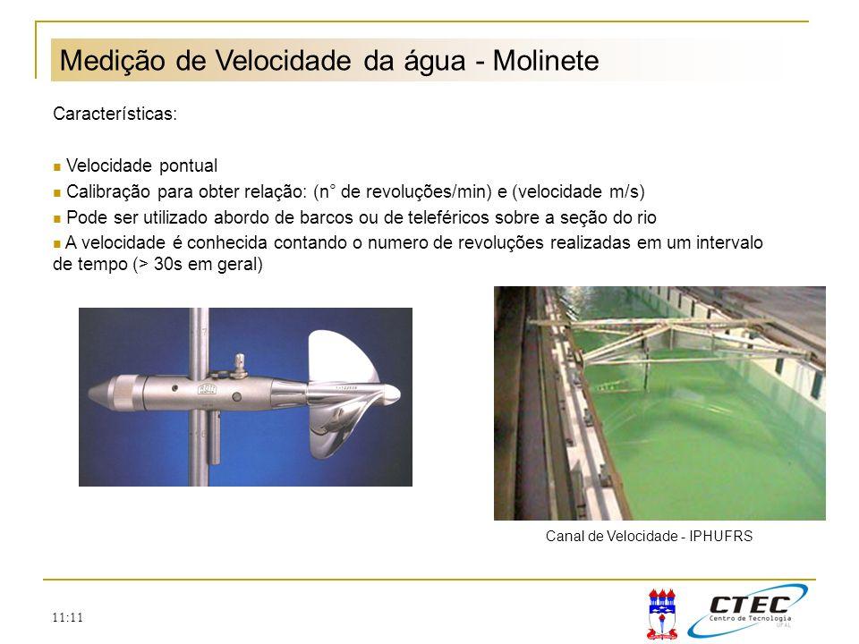 Medição de Velocidade da água - Molinete