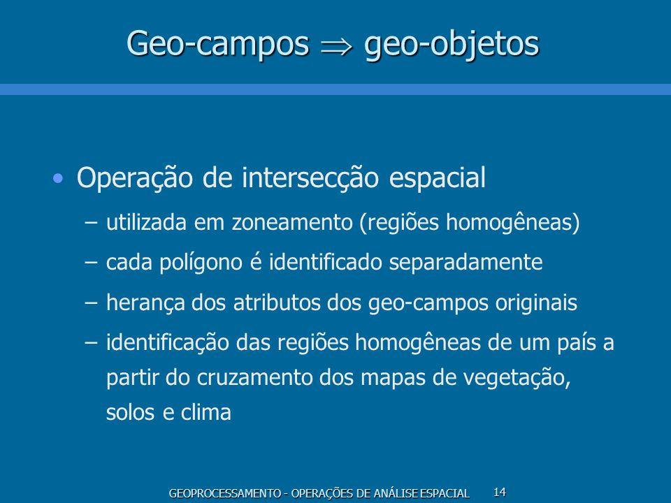 Geo-campos  geo-objetos