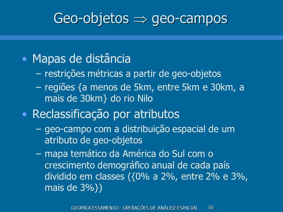 Geo-objetos  geo-campos