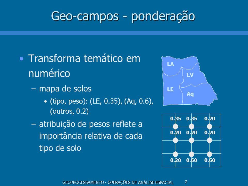 Geo-campos - ponderação