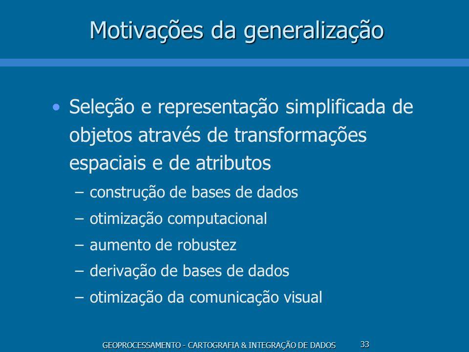 Motivações da generalização
