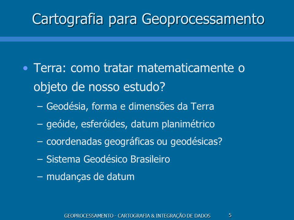 Cartografia para Geoprocessamento