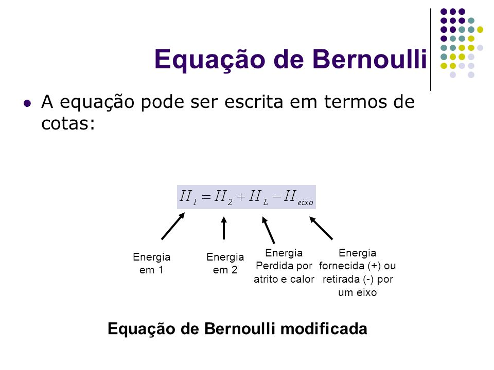 Equação de Bernoulli modificada