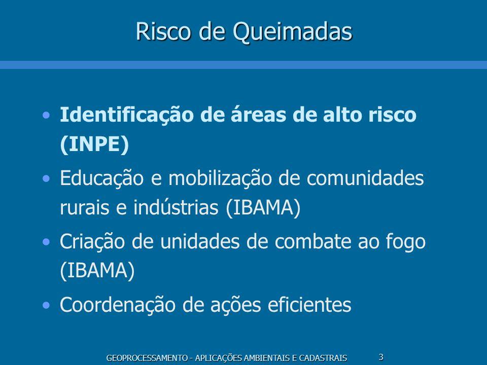 Risco de Queimadas Identificação de áreas de alto risco (INPE)