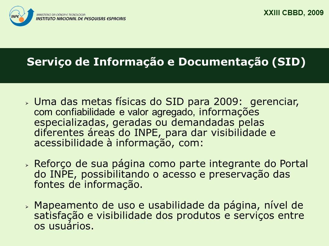 Serviço de Informação e Documentação (SID)