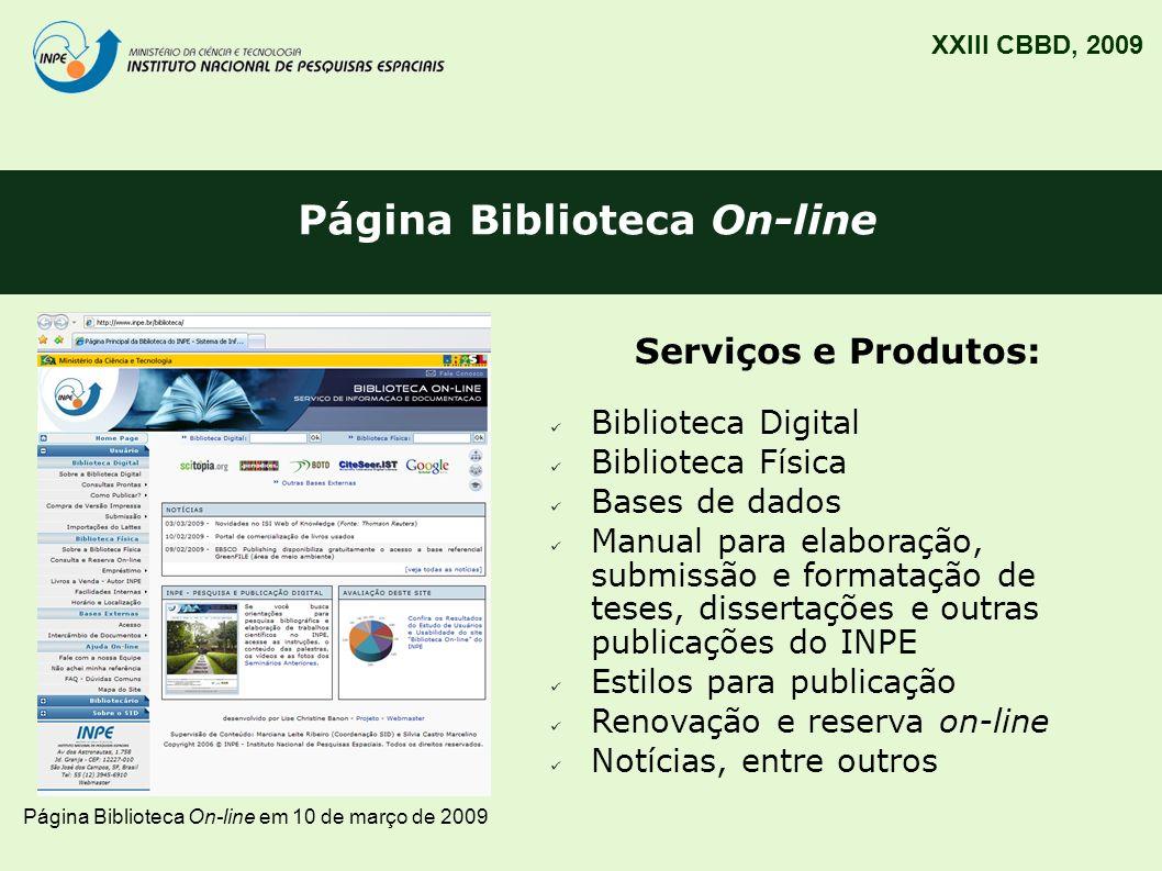 Página Biblioteca On-line