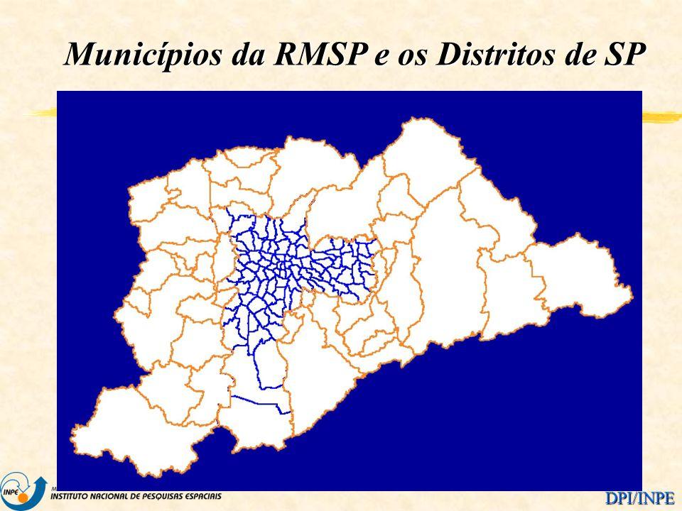 Municípios da RMSP e os Distritos de SP