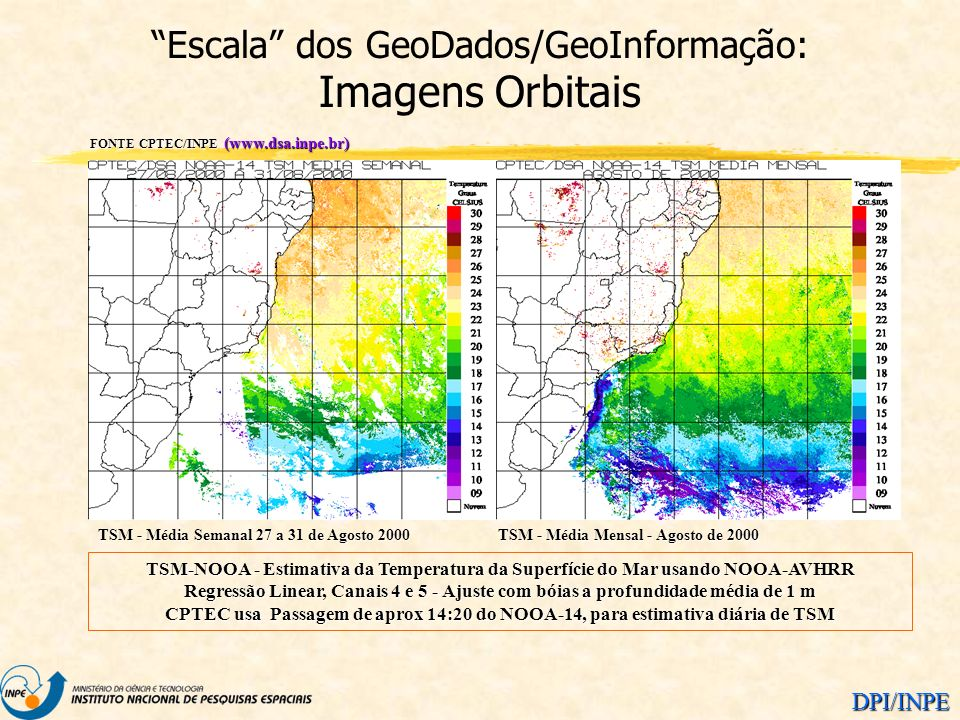 Escala dos GeoDados/GeoInformação: