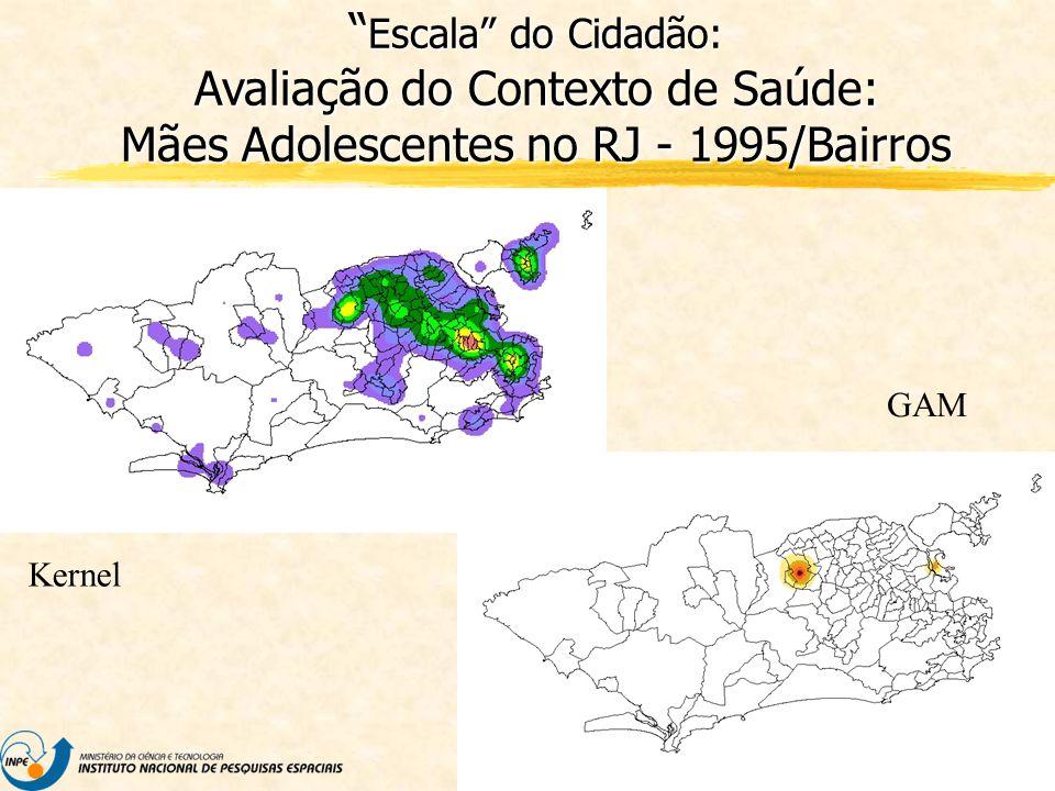 Escala do Cidadão: Avaliação do Contexto de Saúde: Mães Adolescentes no RJ - 1995/Bairros