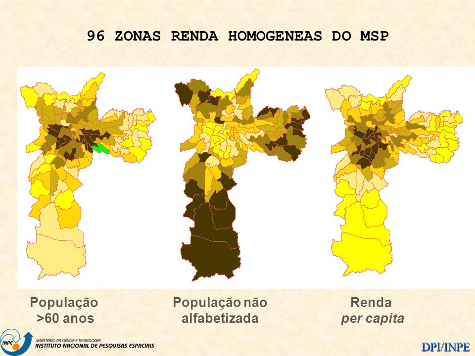 96 ZONAS RENDA HOMOGENEAS DO MSP