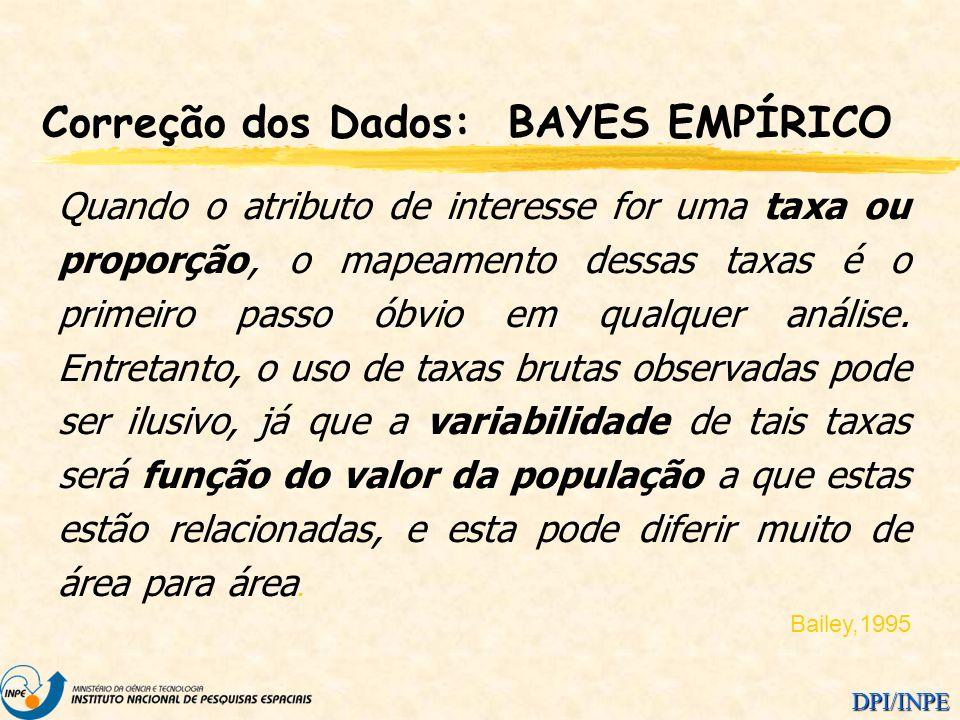 Correção dos Dados: BAYES EMPÍRICO