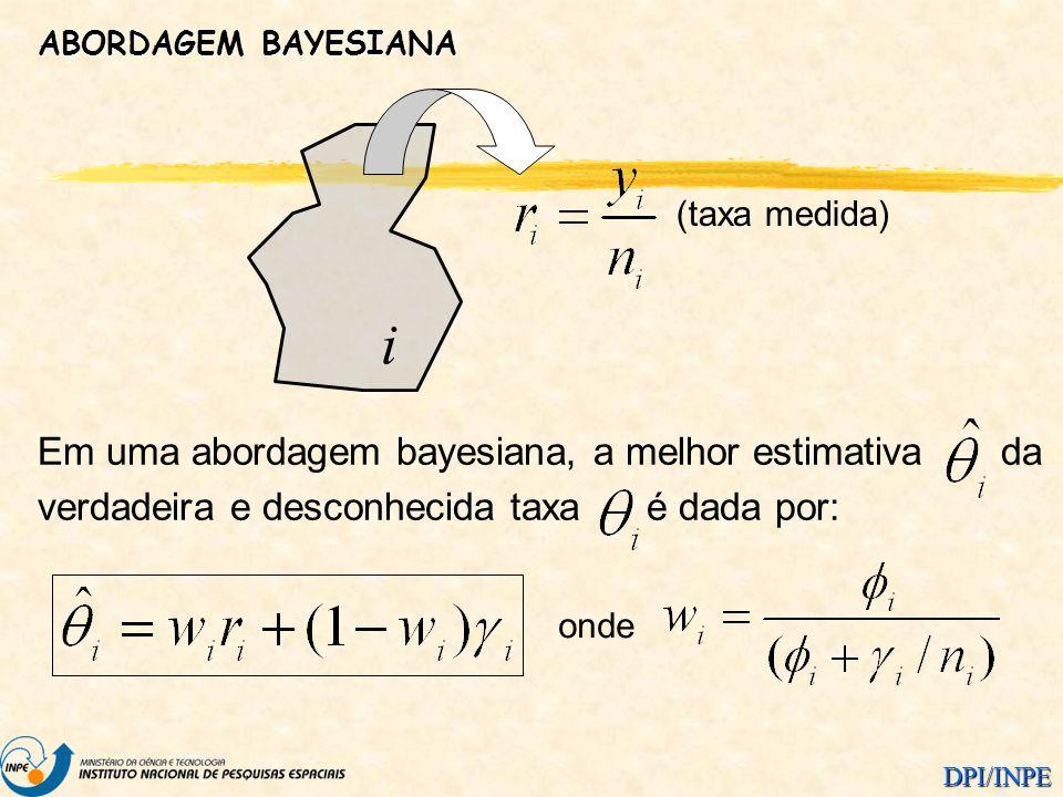 i Em uma abordagem bayesiana, a melhor estimativa da