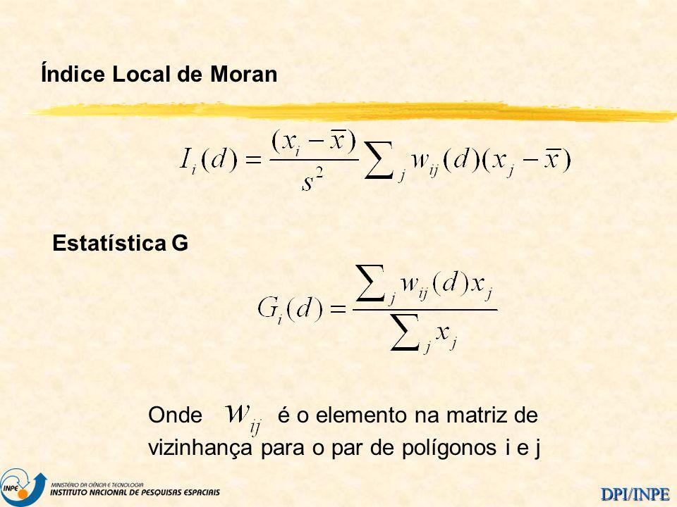 Índice Local de Moran Estatística G.