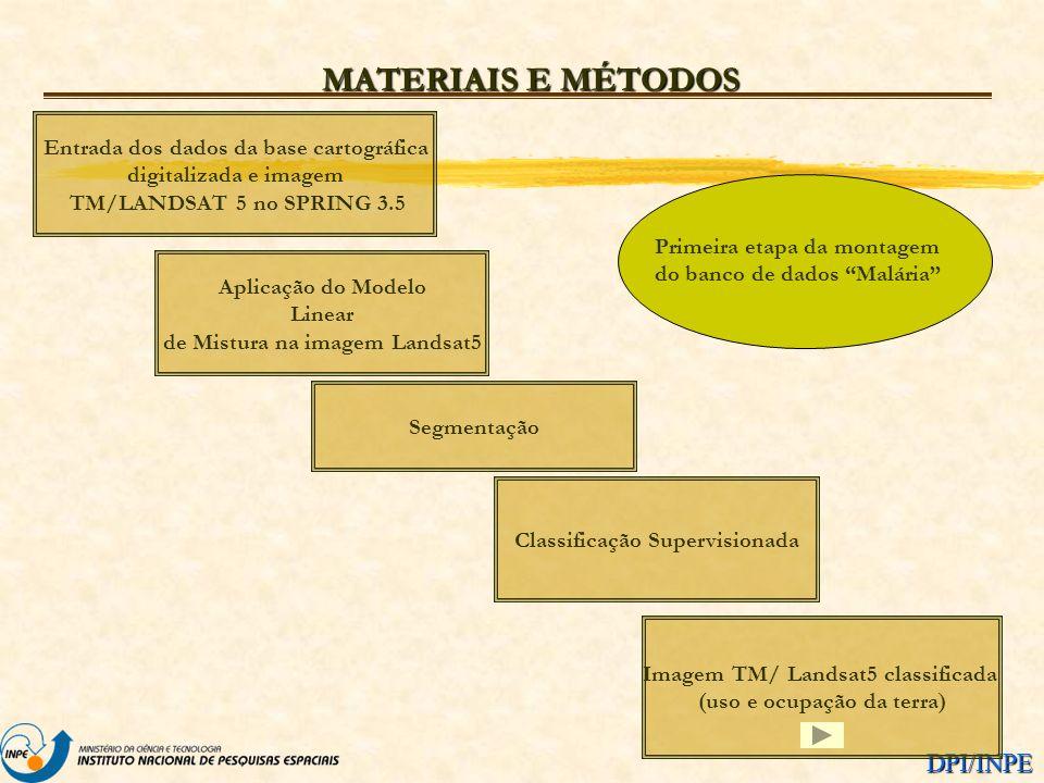 MATERIAIS E MÉTODOS Entrada dos dados da base cartográfica