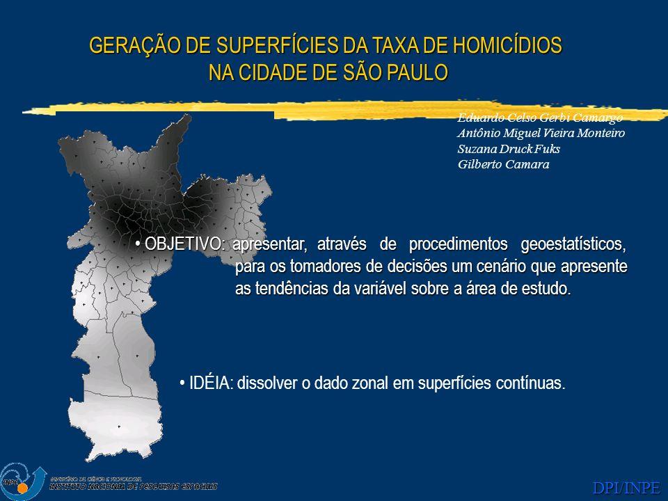 GERAÇÃO DE SUPERFÍCIES DA TAXA DE HOMICÍDIOS