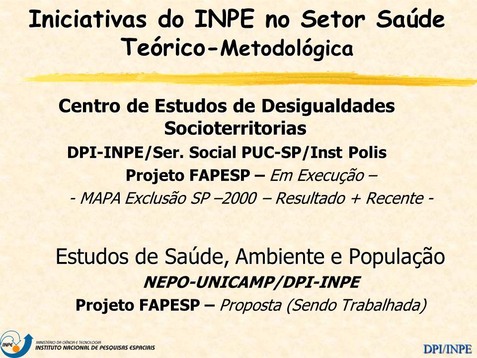 Iniciativas do INPE no Setor Saúde Teórico-Metodológica