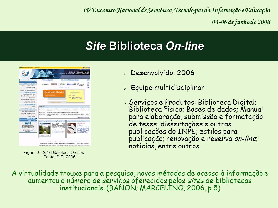 Site Biblioteca On-line