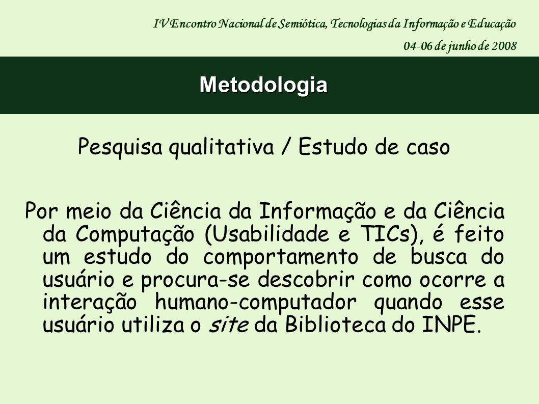 Pesquisa qualitativa / Estudo de caso