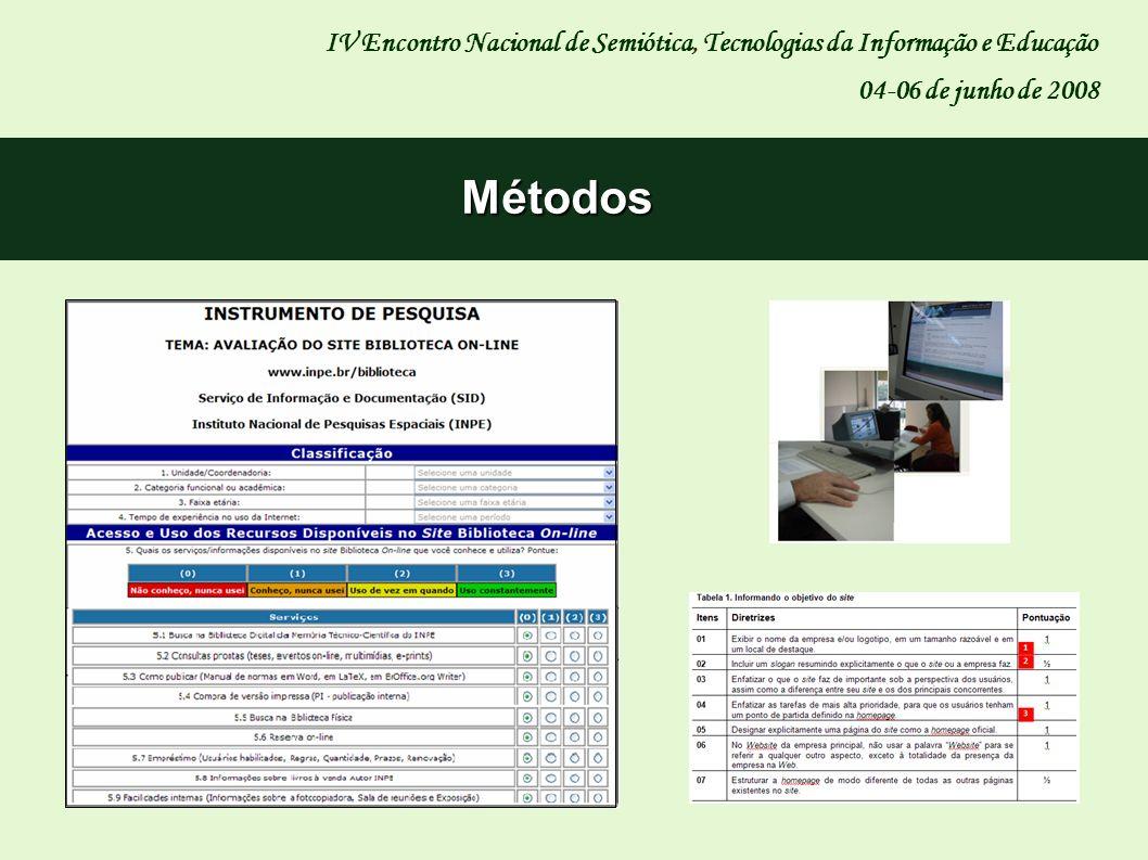 IV Encontro Nacional de Semiótica, Tecnologias da Informação e Educação