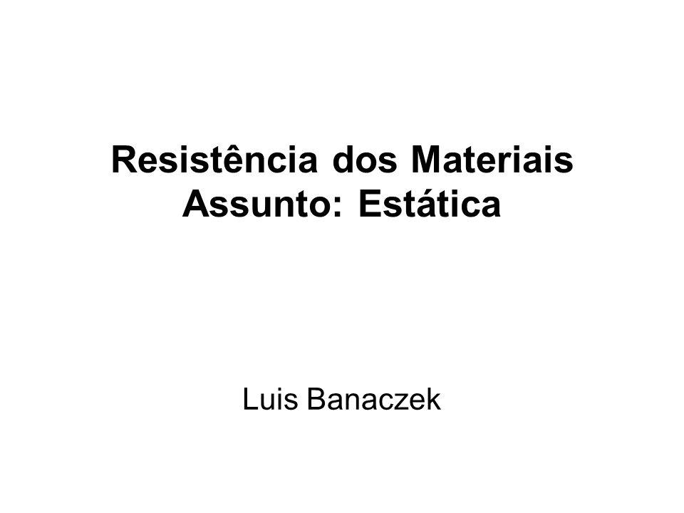 Resistência dos Materiais Assunto: Estática