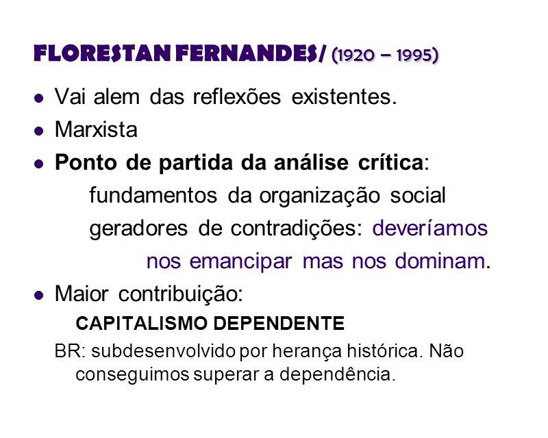 FLORESTAN FERNANDES/ (1920 – 1995)