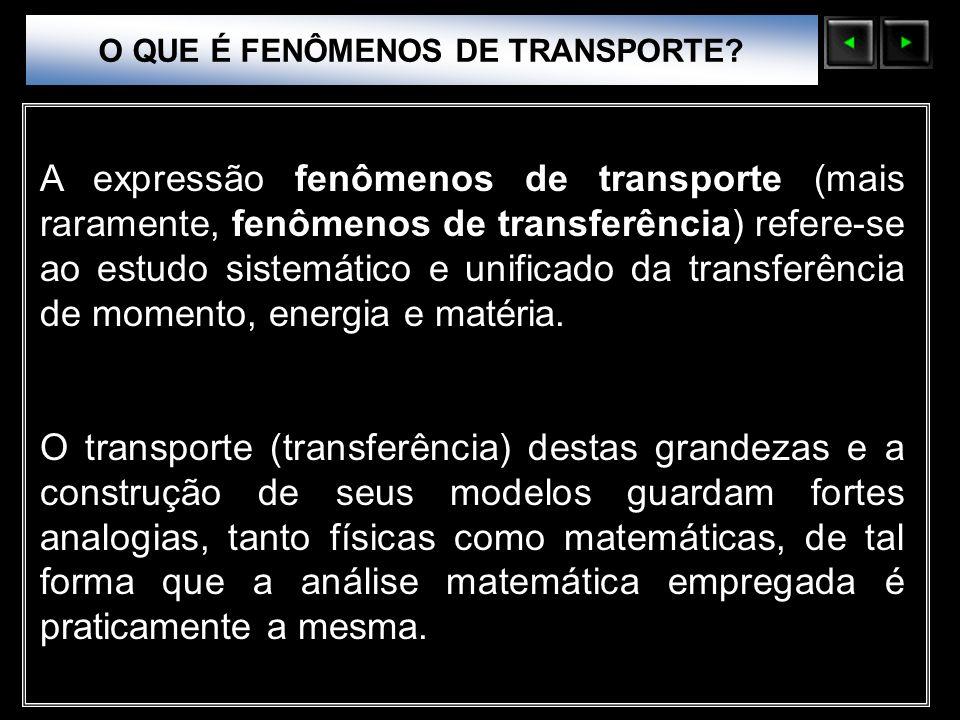 O QUE É FENÔMENOS DE TRANSPORTE