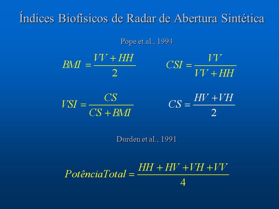 Índices Biofísicos de Radar de Abertura Sintética