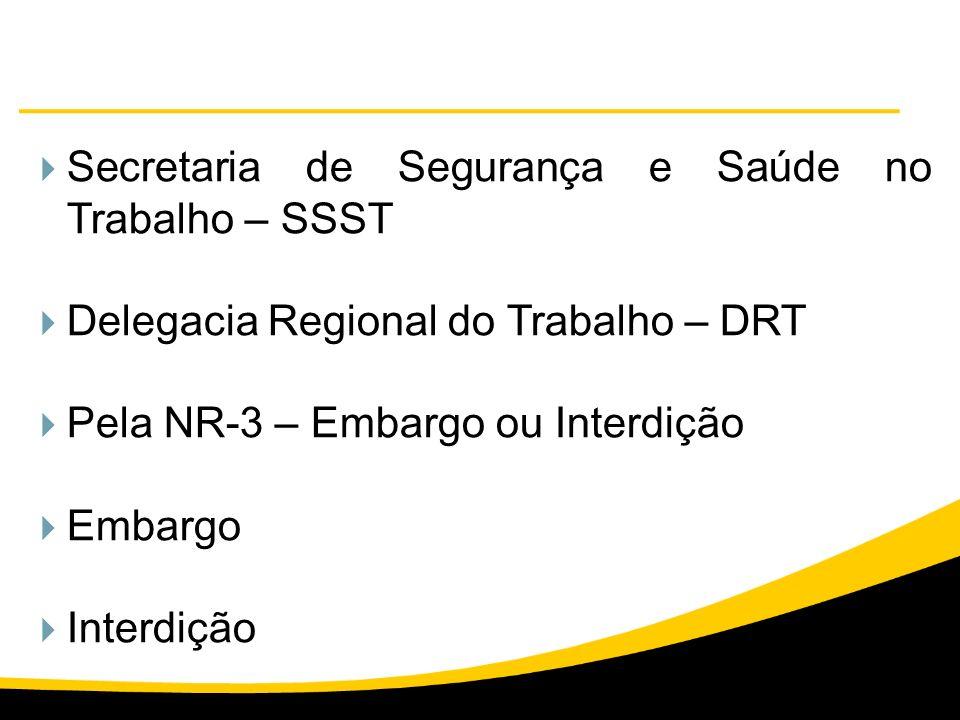 Secretaria de Segurança e Saúde no Trabalho – SSST